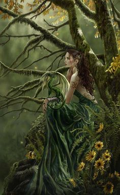 A green witch focuses on mother earth. And teaches to heal with natural remedies, meditation, and self awakening truths.