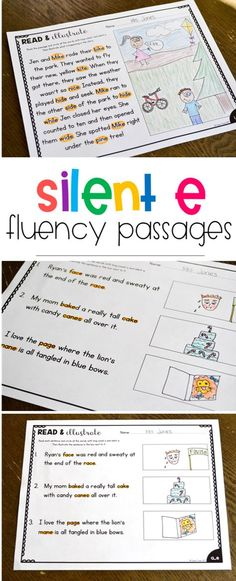 """I am so happy to share some brand new, silent e fluency passages I made… and they are FREE! These phonics """"read & illustrate"""" passages are the perfect way to assess students understanding of what they are reading. There are 2 activities for each of the following phonics skills: a_e i_e o_e u_e There is …"""