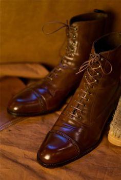 Carmina Cognac Shell Cordovan Boots - Custom made by Carmina for Ethan Desu #Aim2Win