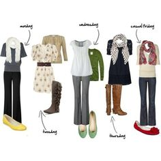 I just adore all these casual but put-together looks: simple layers, cute scarves & great sleeve-lengths. Instead of bright shoes, I'd probably wear a colorful necklace for that punch of color and keep attention near my face.