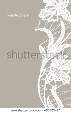 White bobbin lace vector texture leaves background for all. Eps10 - stock vector