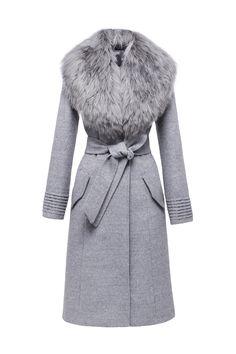 Long Coat with Fur Collar