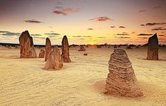 The Pinnacles – Cervantes, Australia  The pinnacles seem to go on forever and the entire area has an otherworldly feel to it...  - Photo from TripAdvisor