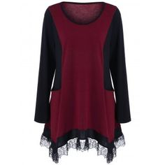SHARE & Get it FREE | Plus Size Lace Panel Tunic T-ShirtFor Fashion Lovers only:80,000+ Items·FREE SHIPPING Join Dresslily: Get YOUR $50 NOW!