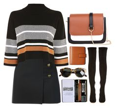 """""""Sem título #1294"""" by andreiasilva07 ❤ liked on Polyvore featuring Yves Saint Laurent, Native Youth, Nicholas Kirkwood, Lodis and Karen Walker"""
