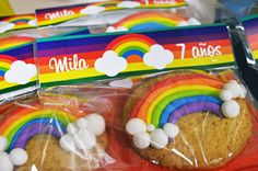 Cute cookies at a rainbow birthday party! See more party ideas at CatchMyParty.com!