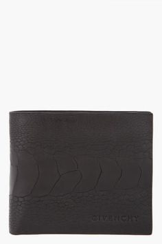 Givenchy Black Ostrich Wallet S/S 2012