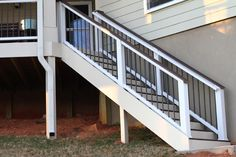 Interested in a new deck or deck remodel? Check out our photo gallery of successful deck installations today. Before After Photo, Before And After Pictures, Home Renovation, Home Remodeling, Composite Decking, Trex Decking, New Deck, Kitchen Remodel, Stairs