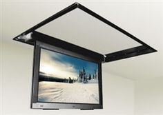 """Motorized flip down TV ceiling mount bracket fits Sony KDL-48W600B 48"""" LED TVs. The perfect mounting solution that is used for below ceiling or flush ceiling installations in the home or office, our flip-down lifts are also ideal for boats, yachts, and RVs where space is so often at a premium. The open top design of the mounting bracket allows for you to mount your Sony KDL-48W600B TV up to 3.75"""" when there is a ceiling above otherwise up to 5"""" TV depth for open design above."""