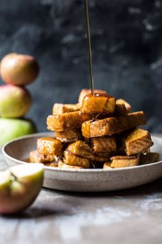 Apple Butter Cinnamon French Toast Sticks - So easy, so convenient... and SO delish! From halfbakedharvest.com