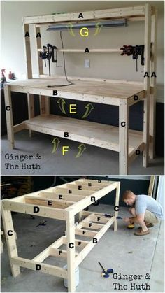 After doing our first few small projects we decided we needed an official work station for our future projects. We found a simple work bench tutorial at the Family Handyman. …