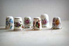 Vintage Floral Thimbles