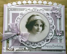 Voorbeeldkaart - ...Happy Birthday ... 1 - Categorie: Scrapkaarten - Hobbyjournaal uw hobby website