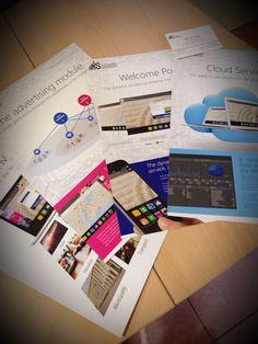 Depliant, schede, biglietti da visita ed espositori arrivati! Perfetti! Yes! #webkitchen #pixartprinting #flyer