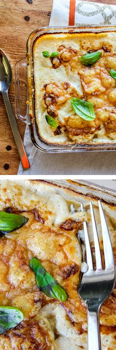 Gruyère-Crisped Potatoes Au Gratin // The Food Charlatan. These are the perfect holiday potatoes because you can make them ahead of time!
