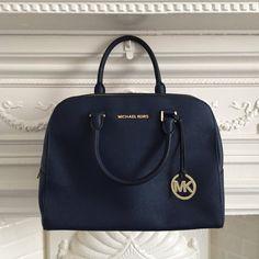 4f99ad343df5c MICHAEL KORS original navy 100% leather handbag shoulder bag. Comes with a  detachable