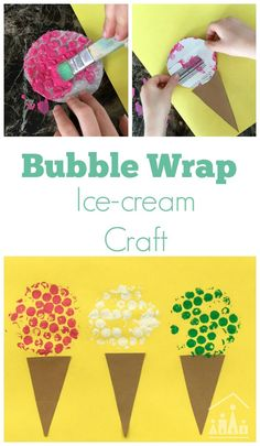 Say hello to Summer with our colourful Bubble Wrap Ice Cream Craft for kids. An ideal art project for preschoolers and older kids to do together.