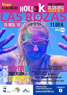 Toneladas de polvo de colores en Las Rozas con #Holi3K