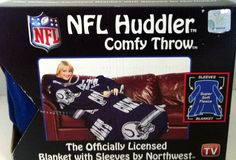 Indianapolis Colts NFL Huddler Comfy Throw Blanket With Sleeves Fleece 48x71 #Northwest #Snuggie