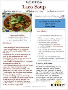 TACO SOUP (21 Day Fix-style!) — TUFFLILY