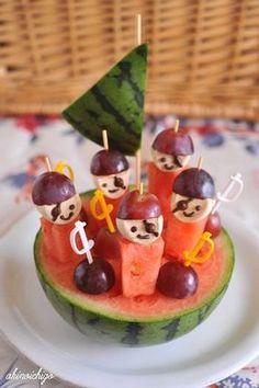 Watermelon すいかの海賊ピンチョス レシピブログ