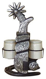 Spur Salt and pepper shaker at Cowgirl Blondie's Dumb Blonde Boutique - Western Lifestyle with a Kick!