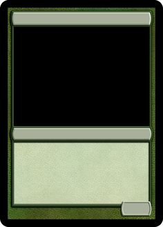 Deck box template nerdy crafts pinterest deck box and mtg mtg monogreen creature template pronofoot35fo Choice Image