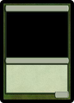 MTG Monogreen Creature Template
