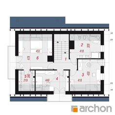 Dom w lucernie 7 Micro House, Traditional House, Floor Plans, Cupboard Design For Bedroom, Yurts, Floor Plan Drawing, House Floor Plans