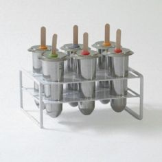 Stainless Steel Popsicle Molds by Onyx- No Plastic! Perfect for Bowman Popsicle Molds, Popsicle Recipes, Homemade Popsicles, No Plastic, Ice Pops, Kitchen Gadgets, Kitchen Tools, Kitchen Things, Kitchen Utensils