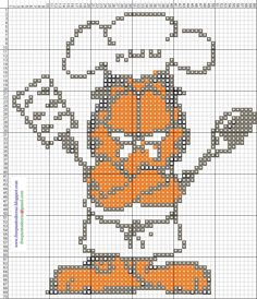 Garfield hama perler beads pattern