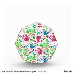 Cute colorful decorative flowers patterns Award