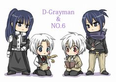 Nezumi & Shion, No.6  Yû Kanda & Allen Walker, D. Gray-man The longer I look the more they look like each other