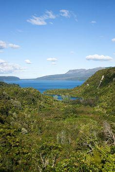 Mount Tarawera near Rotorua, New Zealand