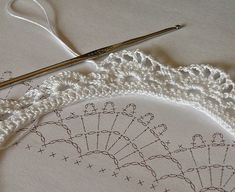 crochet lace border by Liz2006, ༺✿ƬⱤღ  https://www.pinterest.com/teretegui/✿༻                                                                                                                                                      Más