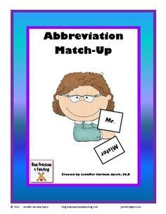 Abbreviations match-up