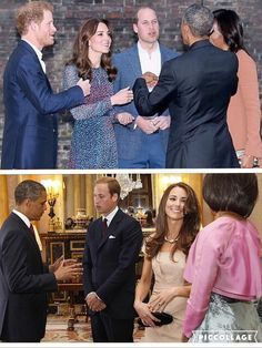 The Duke and Duchess of Cambridge and (Prince Harry) meet the Obamas   April 22, 2016/May 24, 2011