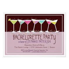 Happy Cocktails Bachelorette Party Invitation  #bachelorette #invitations