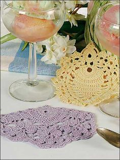 crocheted springtime coasters-free pattern download