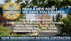 We specialize in all types of roofs! 253.445.8950, www.chasenw.com