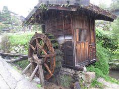 .ψ.Ψψψ.. Waterwheel in Kiso Valley