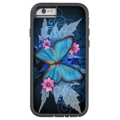 Butterfly Blue Tough Xtreme iPhone 6 Case