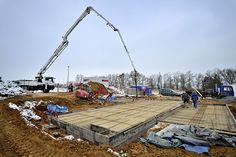 Takto začínala montáž rodinného domu v Křeslicích. #drevostavby