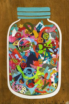 Neat idea for a paper collage...Could use this somehow.