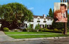 Residence of Lucille Ball and Desi Arnaz - Beverly Hills I saw this in person! Hollywood Homes, Hollywood Stars, Classic Hollywood, Old Hollywood, Hollywood Pictures, Hollywood Couples, I Love Lucy Show, Lucille Ball Desi Arnaz, Lucy And Ricky