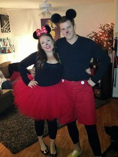 cute diy minnie mouse costume for couples google search halloweeeeeenn pinterest. Black Bedroom Furniture Sets. Home Design Ideas