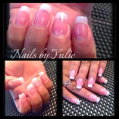 Most natural nails I have ever done! This is all natural.. No white tip.. But pink powder.  They are really thin nails with a nice C curve. Buff to a shine no top coat needed!!  So classic!