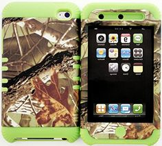 """myLife 2 Layered Protection Hybrid Case for Apple iPod 4 iTouch {Green, Brown and Black """"Camo Tree Bark"""" Three Piece SECURE-Fit Rubberized Gel} myLife Brand Products http://www.amazon.com/dp/B00VKQSKYG/ref=cm_sw_r_pi_dp_NUcmvb12HCJKE"""