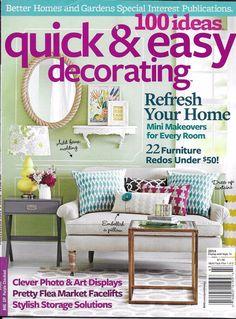 100 ideas quick and easy decorating magazine mini makeovers furniture storage - Decorating Magazines