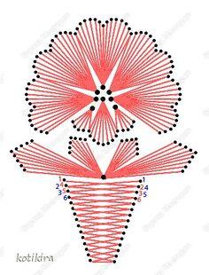 Поделка изделие Изонить БЕЛЫЙ ЦВЕТОК Изонить Картон Нитки фото 1 Embroidery Cards, Embroidery Patterns, Cross Stitch Patterns, Spirograph Art, Stitching On Paper, Pin Card, String Art Patterns, Thread Art, Card Making Techniques
